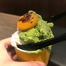 #yummy Japanese Gelato topped with sweet potato + Matcha Baked Cheesecake with Fig Wine Paste from JW360° @jewelchangiairport .