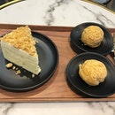 #yummy durian mousse cake (with crunchy nuts on top) and Durian Craquelin (filled with D24 cream) @msdurianpastry .
