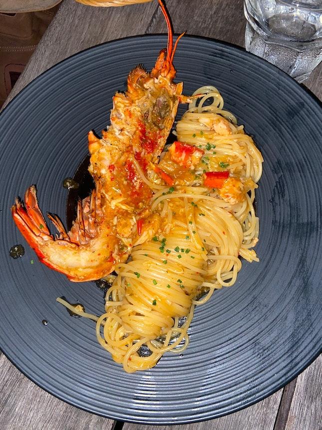 Chilli Lobster Tagliatelle $28 Beyond
