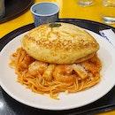 Omu Soufflé Tomato Chilli Spaghetti