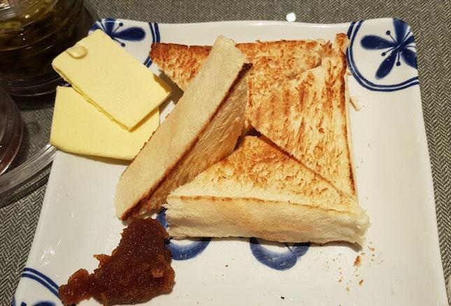 Thick kaya butter toast
