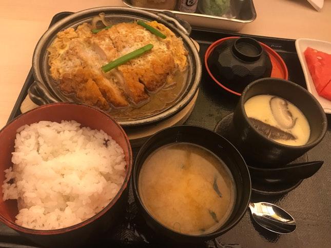 Katsu Tamatoji W Rice Set