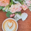 Start your week right with coffee and flowers 💐 - Coffee is alright so not sure what's the hype.