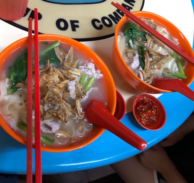 Mee Hoon Gui / Ban Mian with Pork