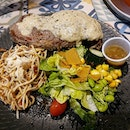 Grilled ribeye steak from The Soup Spoon!