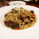 Linguine with Kobe Beef from Al Borgo!