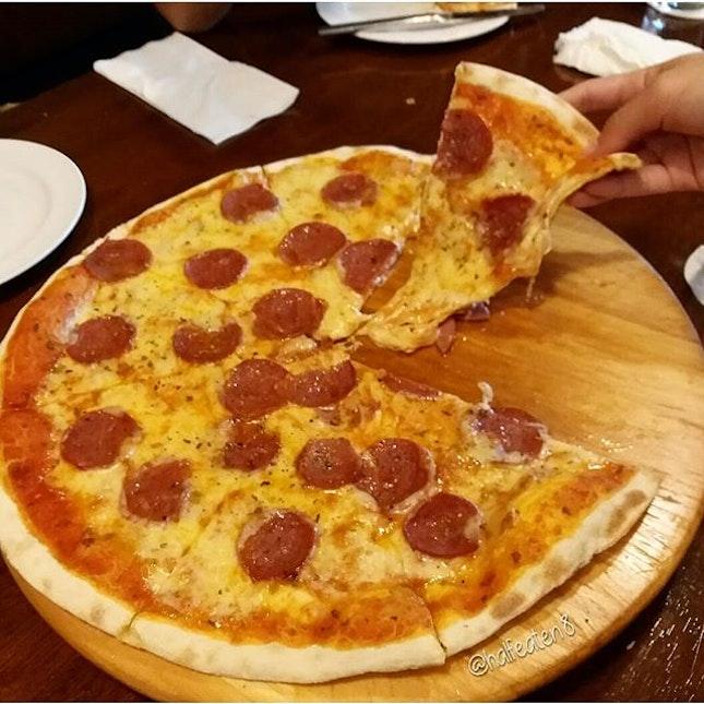 Beef Pepperoni Pizza from Jojo's Italian in Malaysia!