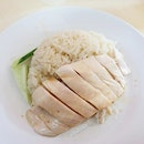 Chicken rice from Tiong Bahru Hainanese Boneless Chicken Rice in Changi Village!