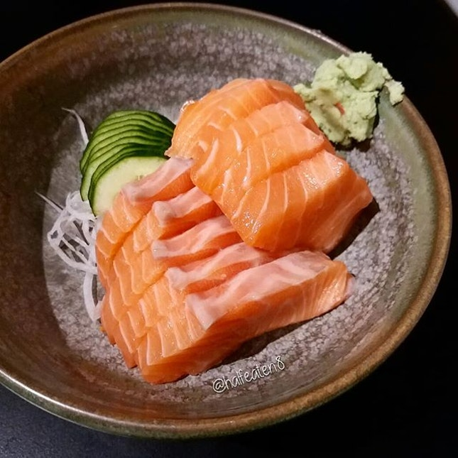 Salmon Sashimi from Peace Japanese Cuisine!