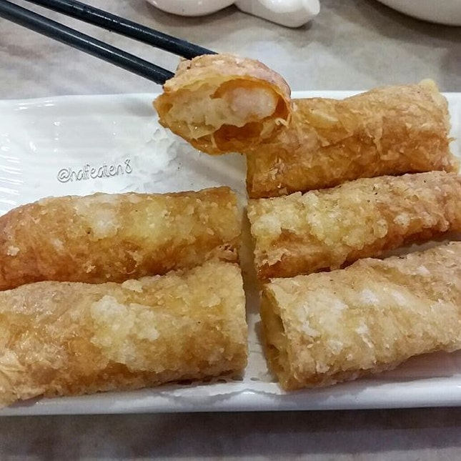 Prawn & Cuttlefish in Fried Beancurd Skin from D'Shanghai!