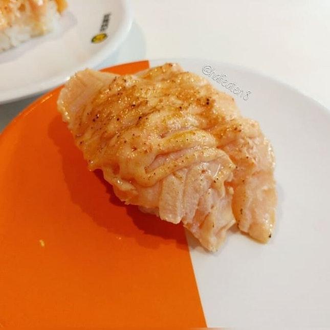 Seared Salmon with Pollock Roe from Genki Sushi!