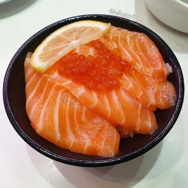 Mini Salmon Don from Genki Sushi!