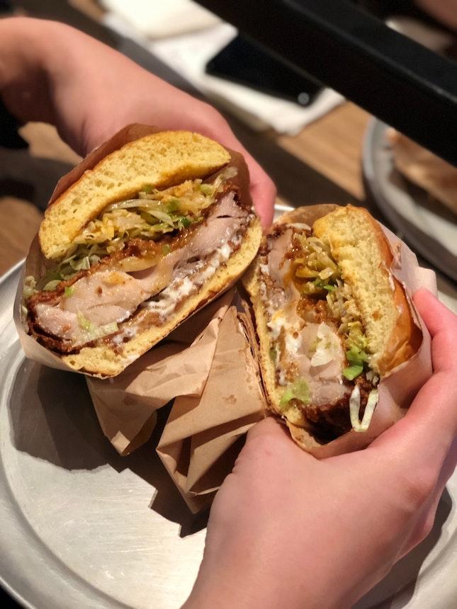 Chicken Sandwich And Mushroom Sandwich