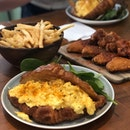 Croissant, Truffle Fries, Honey Paprika Wings