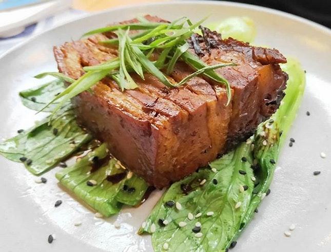 8 Hour Braised Pork Belly 👍🏻👍🏻👍🏻 $23++ .