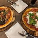 Black Truffle Pizza & Buratta Pizza