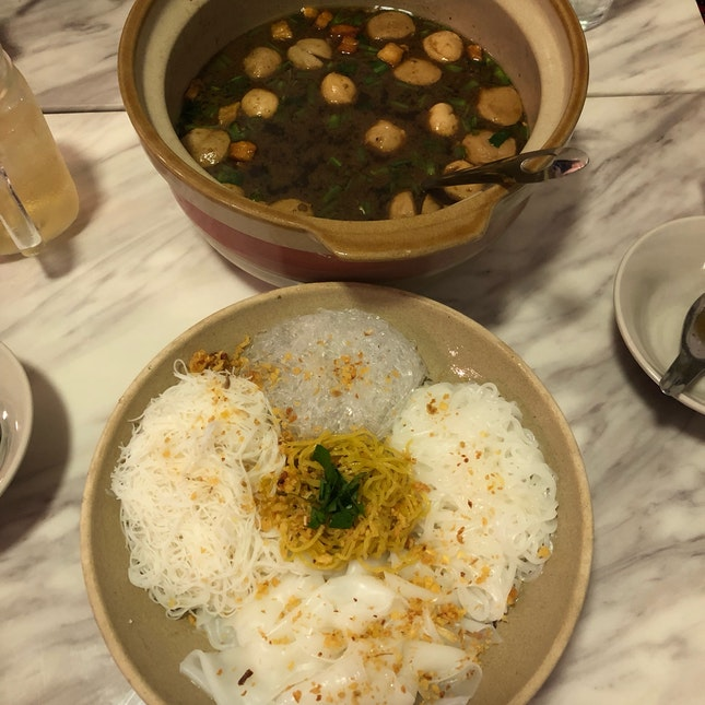 Boat Noodles Combo (pork And Beef)