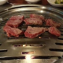 #koreanbbq Prime beef over a charcoal grill  Grilling beef must have been the East Asian fun equivalent of toasting marshmallows, cos you see it in Korean, Mongolian and Vietnamese cuisines.