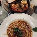 Chilli Crab Pasta + Hot Chicken Tomato Stew