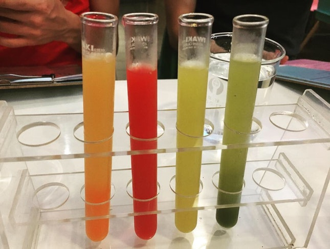 Juices In Test Tube