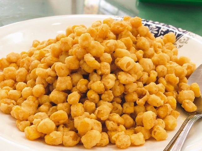 Corn Kernels With Salted Egg Yolk