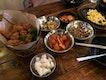 Fried soy sauce chicken, Seafood Pancake & Tofu Soup