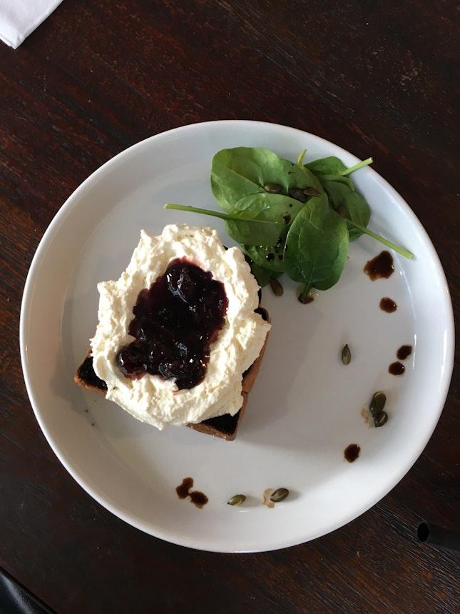 Ricotta Toast with Jam