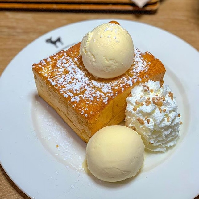 "Shibuya honey toast, it didn't look as ""pretty"" as the Bingsu's in pictures."