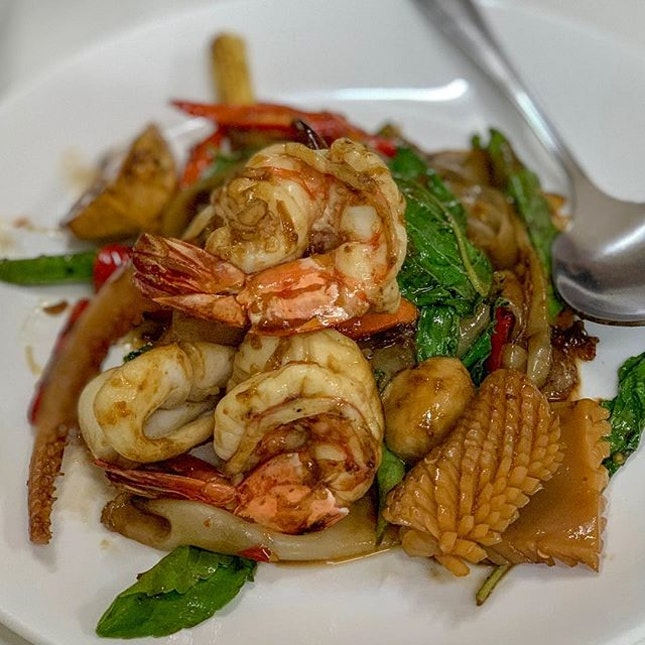 """Can't recall what was the original name of this dish, but we referred to it as """"seafood horfun"""" ."""