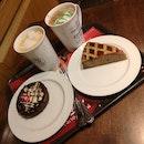 Chocolate Mint Latte, Salted Popcorn Latte, Chocolate Marshmallow Tart, Linton Pie