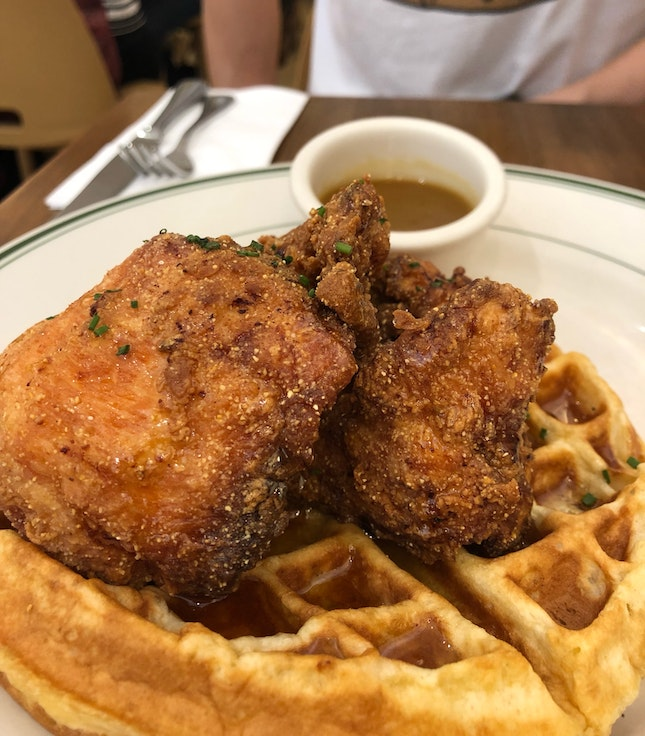 Chicken And Waffles($21)