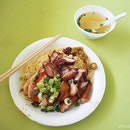 I ordered the soy sauce chicken noodle with added char siew ($5).