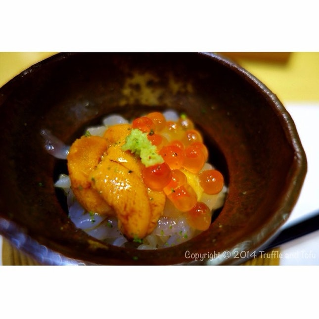 Yummmmmm 😍😍 My fav in Hinata, Uni and Ikura in sushi rice