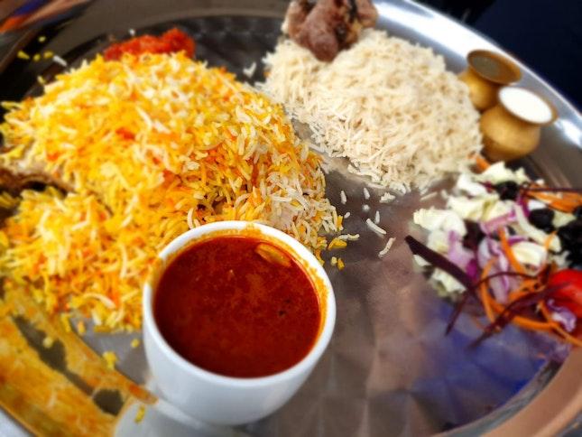 Mutton Mandi And Chicken Briyani