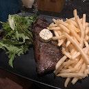 Striploin Steak With Truffle Fries!