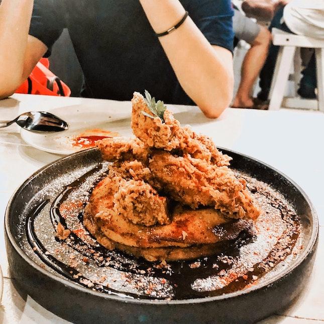 Fried Chicken Pancake