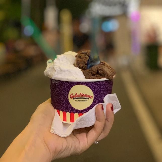 Coconut, Berry Yogurt & Chocolate Gelato