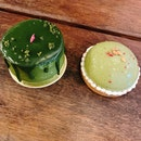 Matcha and Genmaicha Petit Gateau