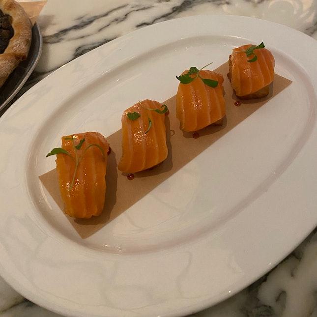 Crispy Salmon Sushi