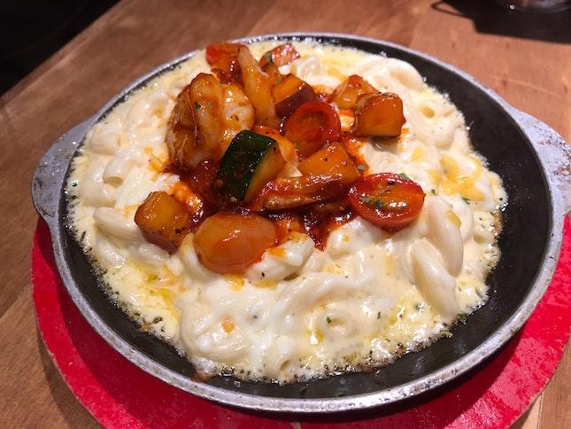 Mac&Cheese ft. Shrimp ($11.90)