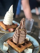 Waffles with Ice Cream