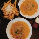 Crabmeat Linguine + Truffle Fries