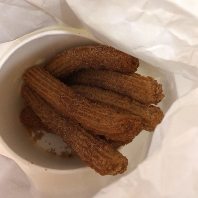 Grub Churros with dark choco & yuzu white choco