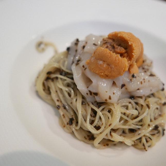 Cold Uni truffle Capellini