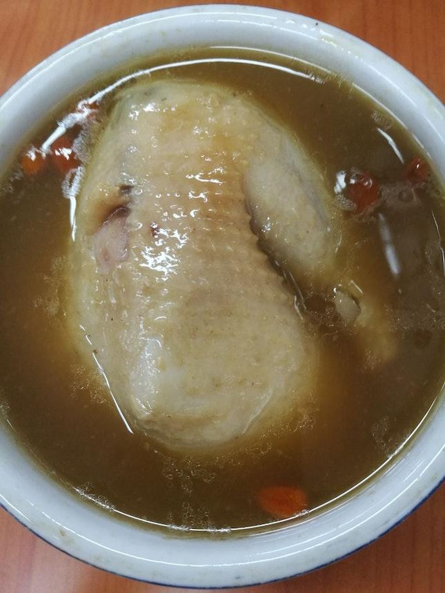 Herbal Cordycep Chicken Soup