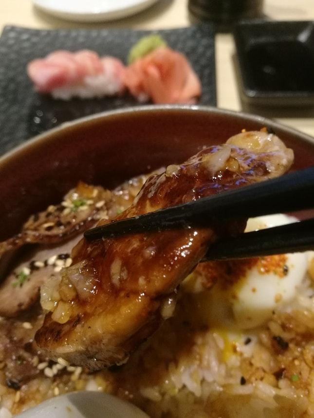 Foie Gras Yakiniku Onsen Tamago Don