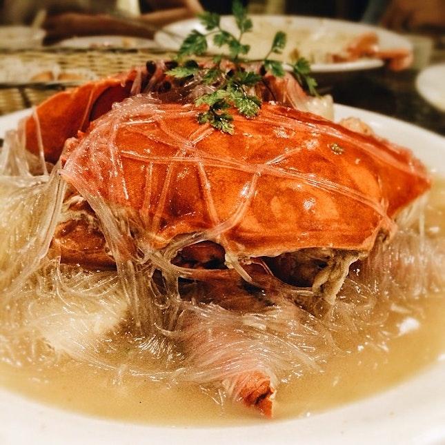 上汤螃蟹  I don't know why they served this after the butter crab.