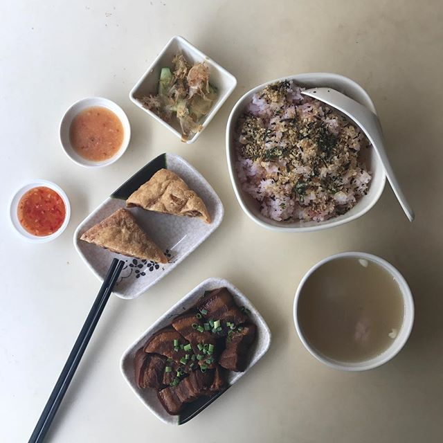 Plum & Rice Set ($5.90) not including the fried bean curd.
