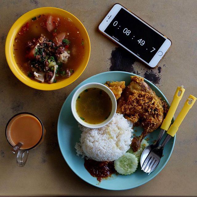 Nasi Padang And Ox tail soup.
