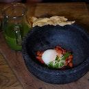 Starter - Watercress soup, Warm Wasabi Green Pea Soup, Vitel Tone and Avocado Jumbo Lump Crab Salad.